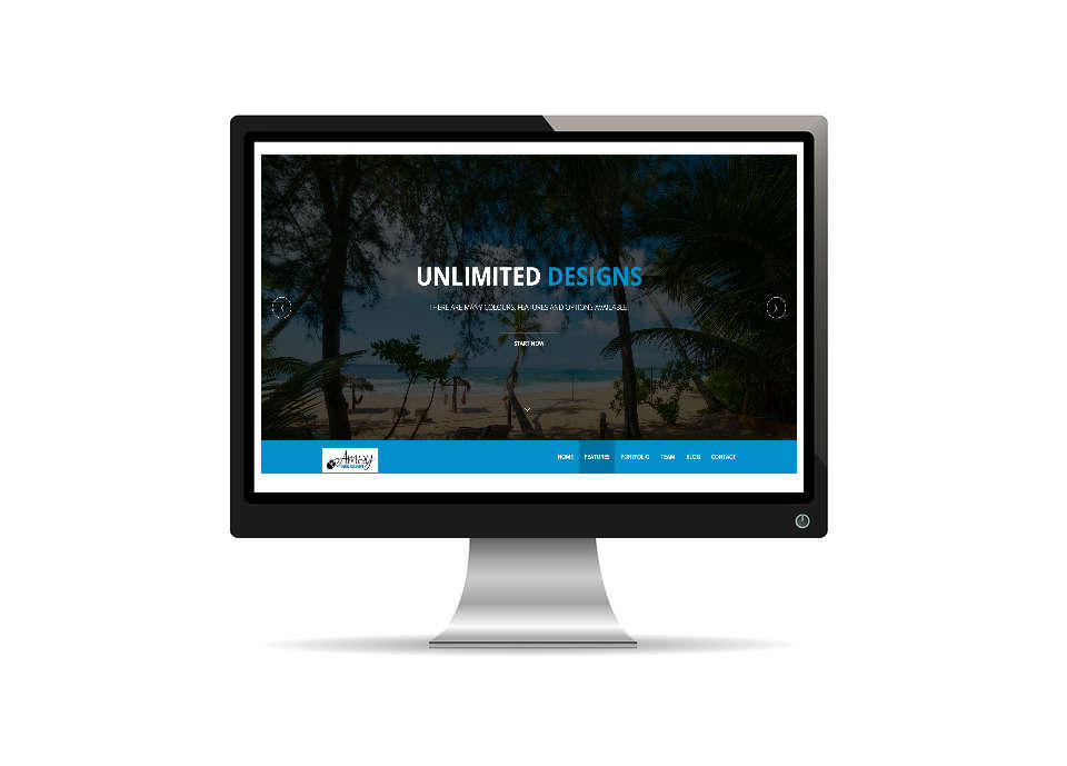 Amay Web Design one page website