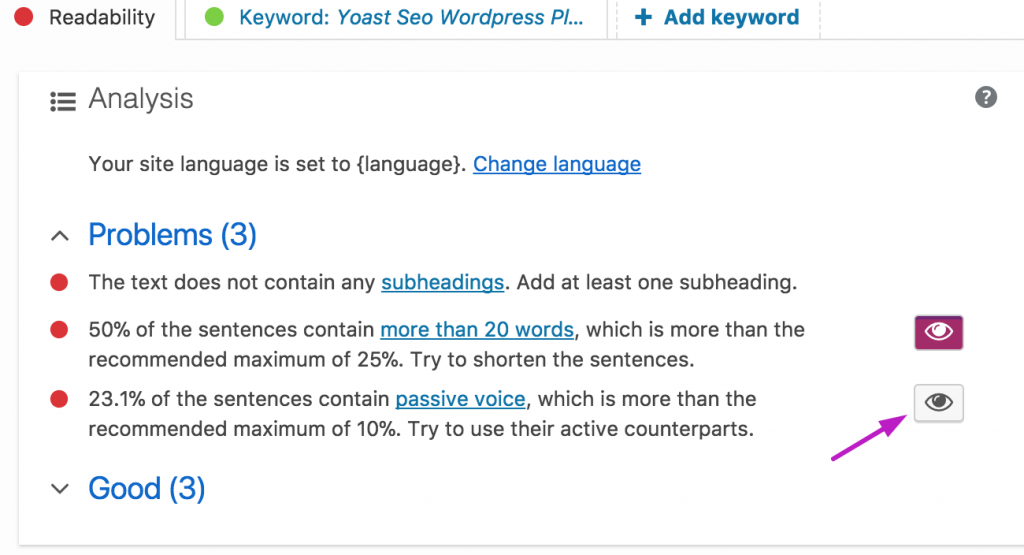 Achieving seo readability with an article.