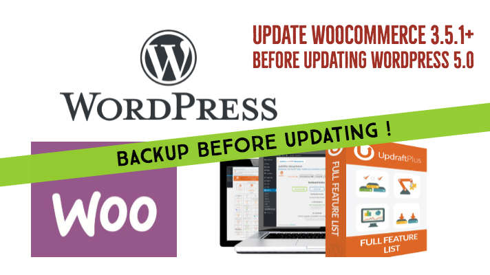 Update woocommerce plugin before updating wordpress 5.0
